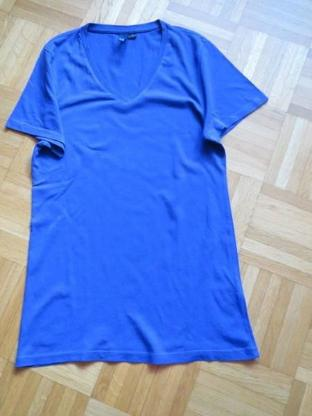 T-Shirt, Gr.36/ XS, Kurzarm, blau