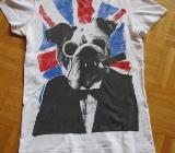 T-Shirt, Gr.36/XS, Kurzarm, weiß - Essen