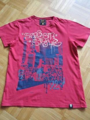 T-Shirt, Gr.36/S, Kurzarm / Fishbone, rot