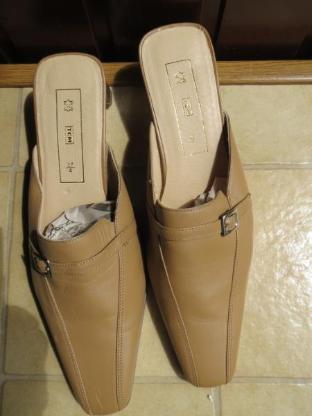 Schuhe, Pantoletten Mules, Gr.37, braun, neu