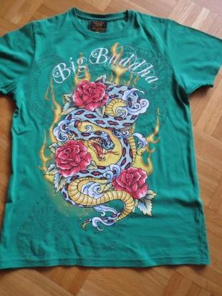 T-Shirt, Gr.36/ XS, Kurzarm, Fishbone, grün