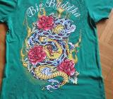 T-Shirt, Gr.36/ XS, Kurzarm, Fishbone, grün - Essen
