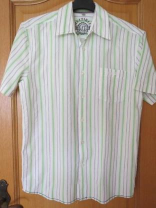 Hemd, gestreift, Gr.38/S, Kurzarm