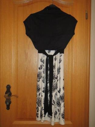 Kleid mit Jäckchen, Gr.XS/S, schwarz-weiß #Amisu - Essen