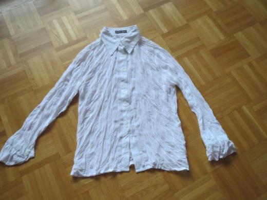 Bluse, Gr. M/L, weiß, mit Pailletten