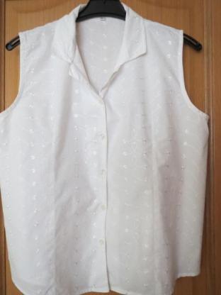 Bluse, Gr. M/L, weiß