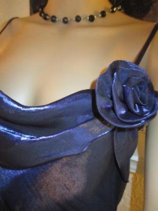 NEU* Edles Designer * Rosen * Romantik * Chiffon * Organza * Abend- Ball- Kleid mit Stola * Gr. 36- 38/ S, royal- blau *
