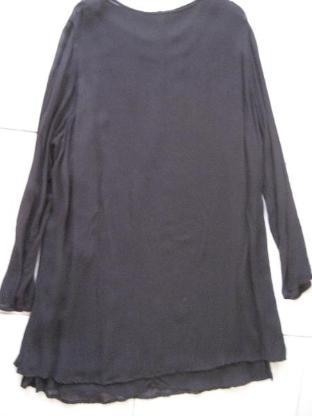 """Hennes"""" schwarzes doppellagiges Georgette Kleid Tunika XL -"""