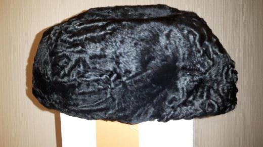 Persianer Kappe Hut Mütze schwarz - innen gefüttert
