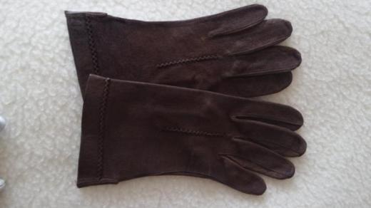 Aus Kla Handschuhe Leder dunkelbraun