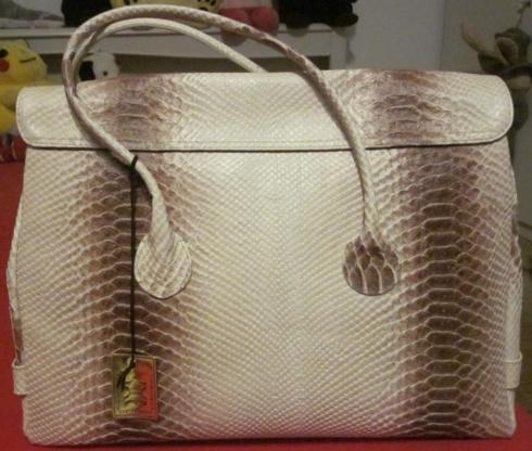 """3 exklusive Leder-Handtaschen """"Maiani"""", neu: beige, rosa, hellblau"""