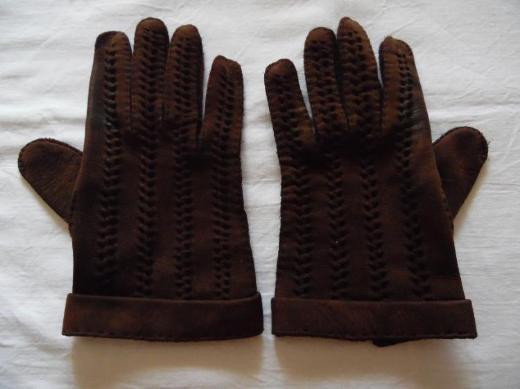 Braune Damen-Fingerhandschuhe
