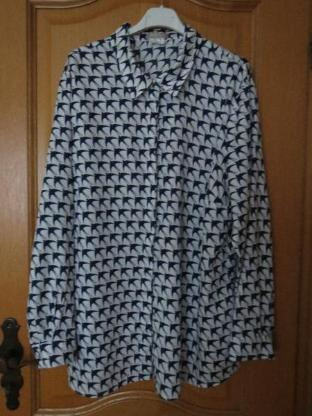 Bluse, Gr.50/XL, Langarm