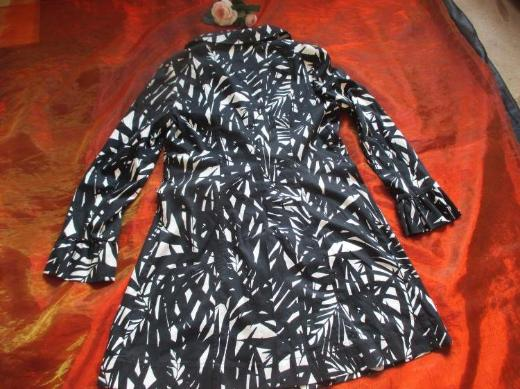NEU* Ausgefallener * Retro- Style * Trench- Coat * Mantel ''NICOWA'' Gr. 38- 40/ S- M, schwarz- cremè- beige *
