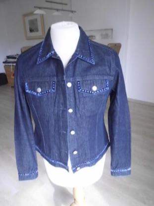 Apart Jeansjacke Damen Jeans Jacke Gr. 38 dunkelblau modisch chic 7,-