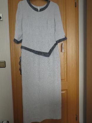Kleid, lang, Gr.42, silber-grau
