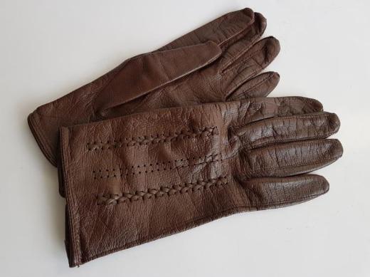Aus Kla Handschuhe Leder braun