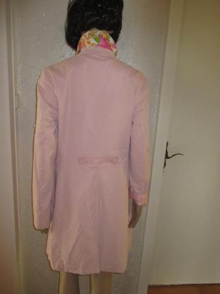 NEU * DESIGNER * Trench Coat * Mantel * mit Blüten * Blumen Flower- Power Futter * Gr. 38- 40/ S- M, rosè- rosequarz- pink * - Riedlingen