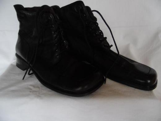 Damenstiefeletten Leder schwarz