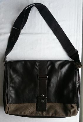 braune Messenger Bag mit Laptopfach