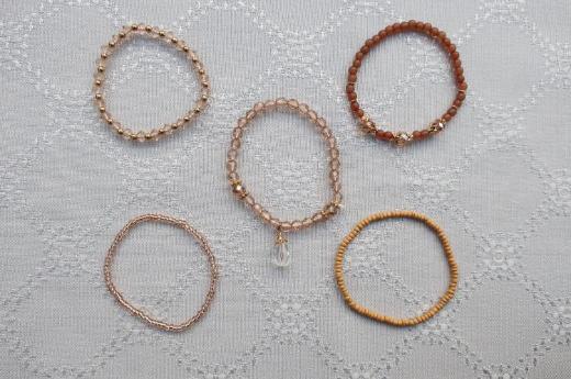 Verkaufe 5-tlg. Armbandset bestehend aus 5 verschiedenen Armbändern