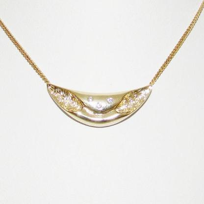 Anhänger Gold 333er Diamant Goldanhänger 8 kt. Halskette 6070