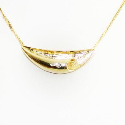 Anhänger Gold 333er Diamant 8 kt. Damen Goldanhänger Damen 6074