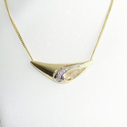 Anhänger Gold 333er Diamanten Goldschmuck 8 kt. Damen 6077