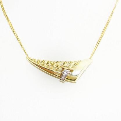 Anhänger Gold 333er Diamanten Goldschmuck Halskette Damen 6075