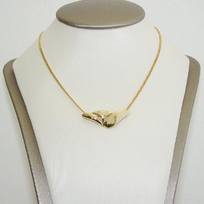 Anhänger Gold 333er Diamanten Goldschmuck  8 kt. Halskette 6076