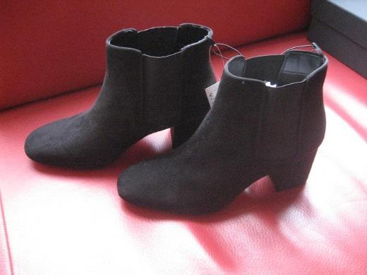 H&M Damen Stiefelette Ankle Boot, 38, schwarz, Neu