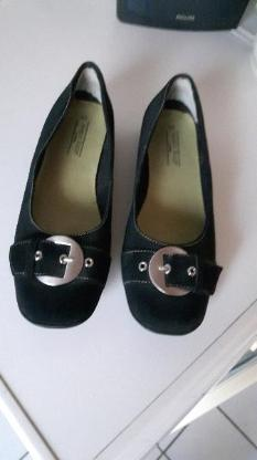Schuhe,Ballerina, schwarz, Wildleder/Nubuk, Größe: 40