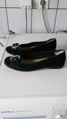 Schuhe,Ballerina, schwarz, Wildleder/Nubuk, Größe: 40 - Immenhausen