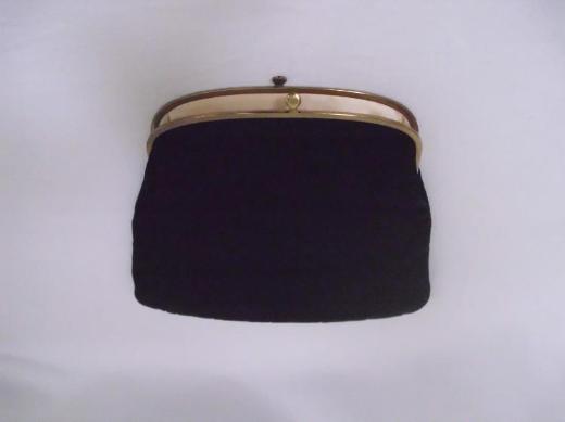 Clutch Tasche Seide schwarz Ingber USA