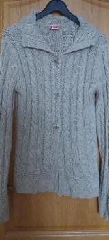 Strickjacke, Gr.40/M, beige, Zara - Essen
