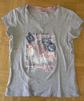 T-Shirt mit Aufdruck grau Gr. 164