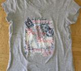 T-Shirt mit Aufdruck grau Gr. 164 - Krefeld