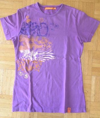 T-Shirt staccato lila mit Aufdruck Gr. 176
