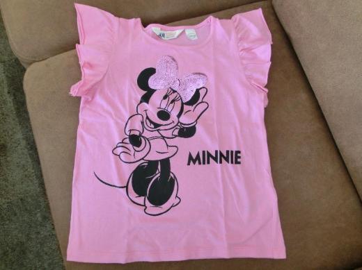 """Shirt """"Minnie Maus"""" / Disney / 122/128/ mit Glitzer-Pailletten"""