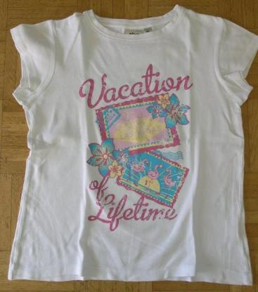 T-Shirt weiß mit Aufdruck Gr. 164