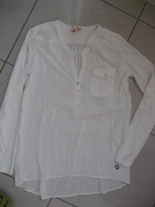 Key Largo Girls, Bluse, Shirt, weiß,V-Ausschnitt,  Gr. S, Neu!!