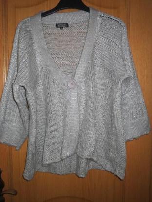 Pullover, Strickjacke, sehr schön, grau, Gr.42/M