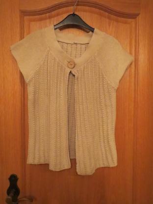 Pullover, Strickjacke, Gr.36/S, beige