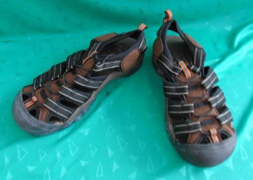 Sandaletten braun-schwarz