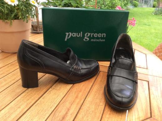 paul green Leder Loafer Pumps Gr. 5 schwarz