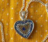 Anhänger Herz in 925 Sterling Silber mit Silberkette 925 -