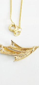 Anhänger Gold 333er Diamanten 8 kt. Goldschmuck Damen Kette 6073 - Neumarkt in der Oberpfalz