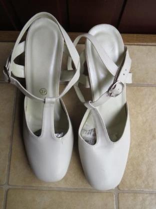 Schuhe, Slingpumps, Gr.37, weiß-creme, Paris