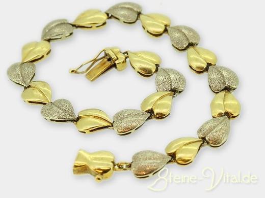 585er Gold Armband, Herz, gebrauchter Schmuck (588)