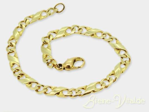 585er Gold Armband, Fantasie, gebrauchter Schmuck (590)